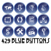 Free Button Set: 429 Blue Buttons (CC-BY)