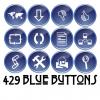 Free Button Set: 429 Blue Buttons (CC-BY)